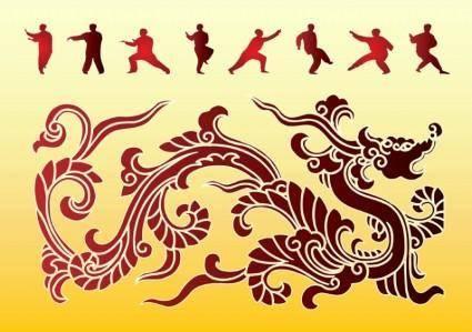 free vector Dragon Kung Fu