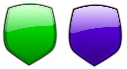 free vector Glossy shields 9