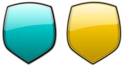 free vector Glossy shields 8