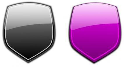 free vector Glossy shields 6