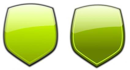 free vector Glossy shields 4
