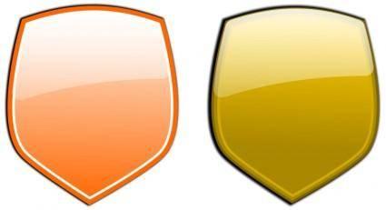 free vector Glossy shields 2
