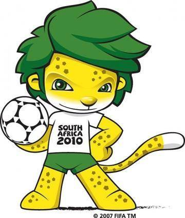 South africa 2010 world cup mascot vector