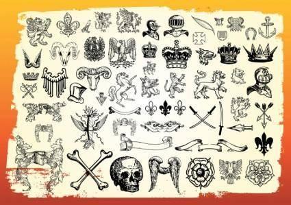 free vector Antique Heraldry
