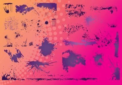 free vector Grunge Borders
