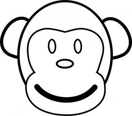 free vector Monkey Line Art