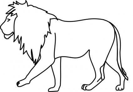 Lion Line Art