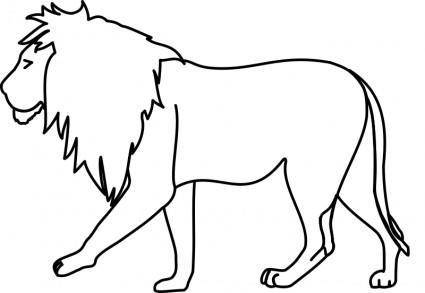 free vector Lion Line Art