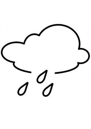free vector Rainy - Outline