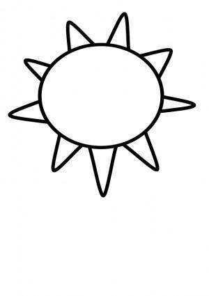 free vector Sun Outline