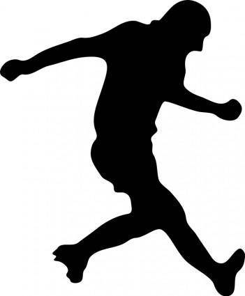 free vector Soccer player silhouette