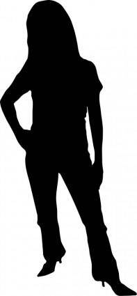 free vector Woman silhouette