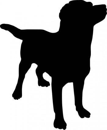 free vector Dog silhouette