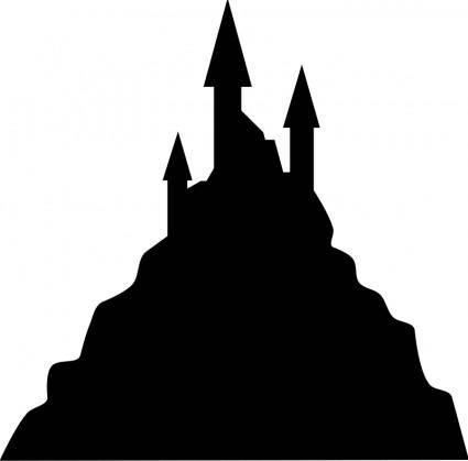 free vector Spooky castle silhouette