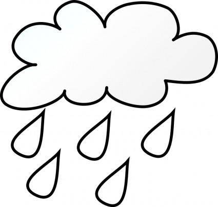 free vector Rain Line Art
