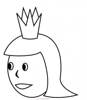 free vector Queen's Head Line Art