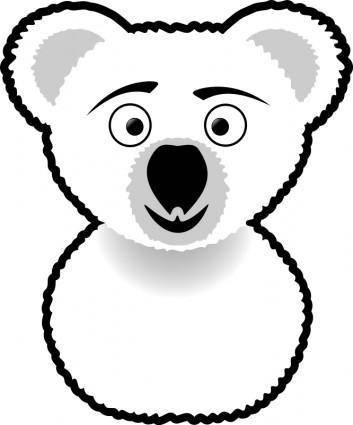 free vector Koala Line Art