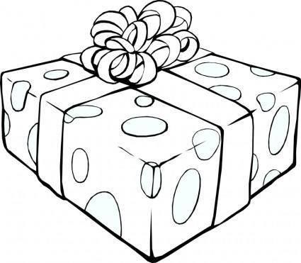 free vector Gift Line Art