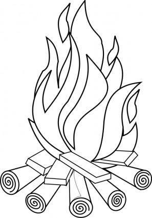 free vector Fire Line Art