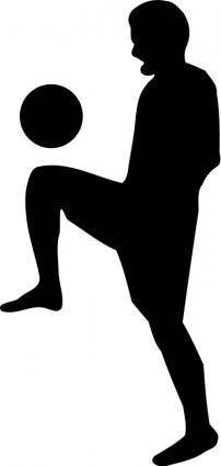 Freestyle soccer silhouette
