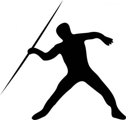 free vector Javelin throw silhouette