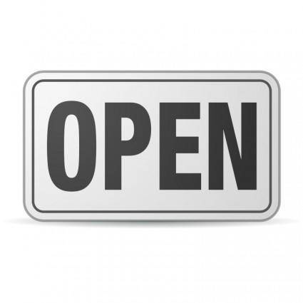Open Sign plastic