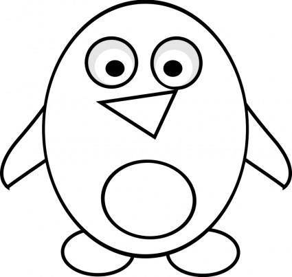 free vector Penguin Line Art