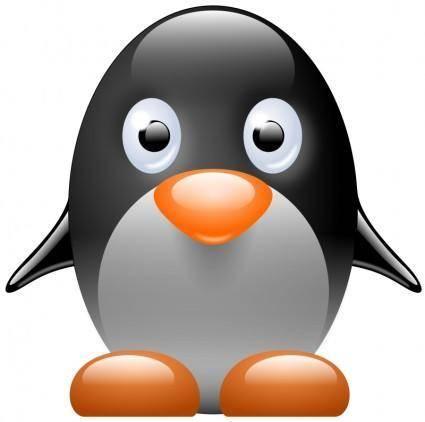 free vector Little penguin