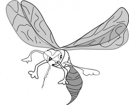 free vector FREEHAND MOSQUITO