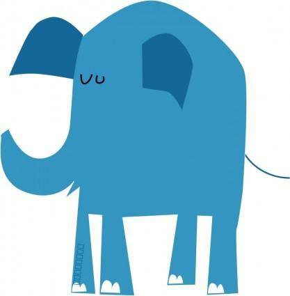 free vector Blue elephant
