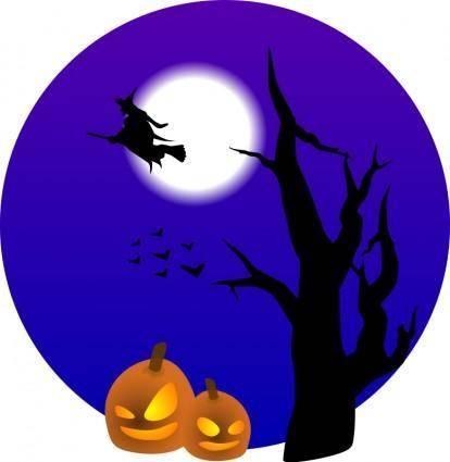 free vector Halloween scene