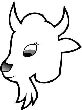 free vector Goat Line Art