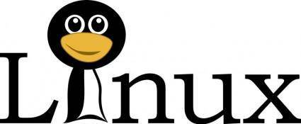 Linux text with funny tux face