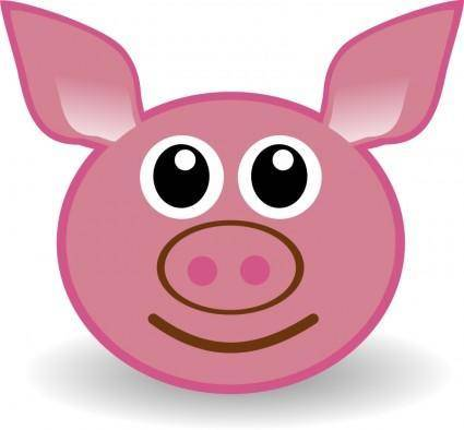 free vector Funny piggy face