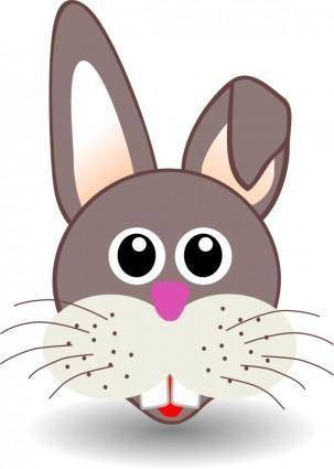 free vector Funny bunny face
