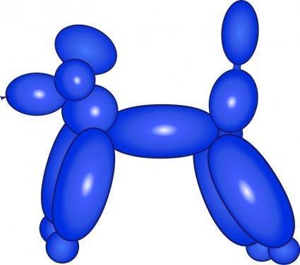 free vector Balloon Dog Blue