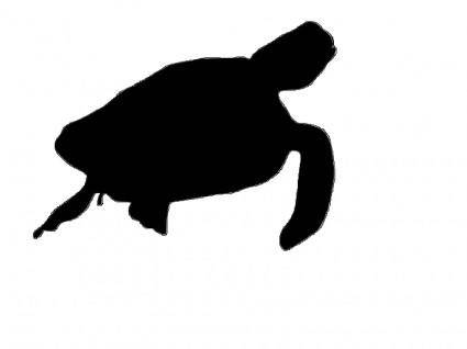 free vector Sea turttle silhouette