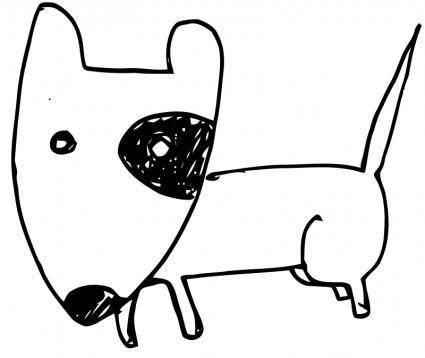 free vector Bull terrier