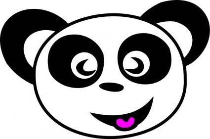 free vector Happy Panda Face