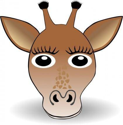 free vector Funny Giraffe Face Cartoon