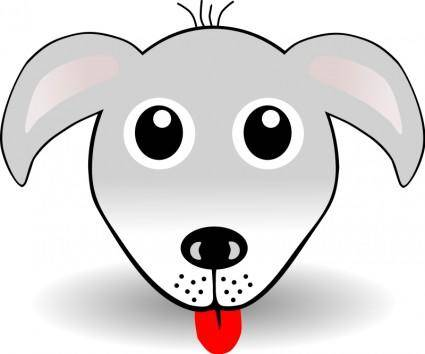 free vector Funny Dog Face Grey Cartoon
