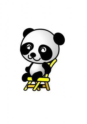 free vector Chair,panda