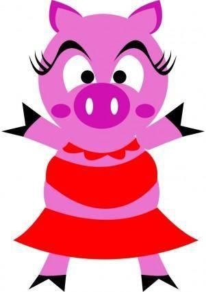 free vector Madame pig