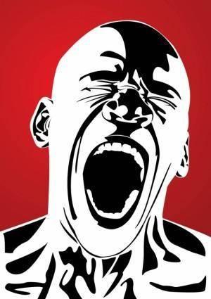 free vector Anger Pain Terror Scream