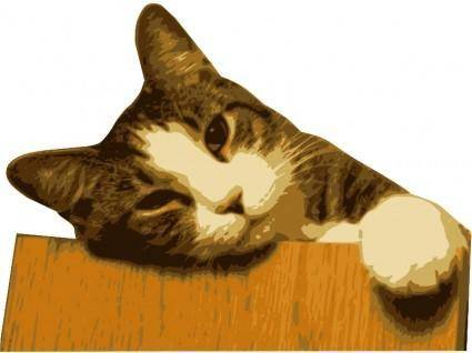 free vector Relaxed cat (bg removed)