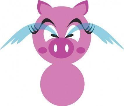 free vector Pig avatar