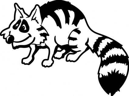 free vector Raccoon