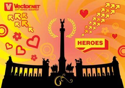 free vector Budapest Heroes Square Monument