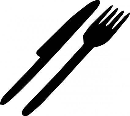 free vector Fork Knife Silverware clip art
