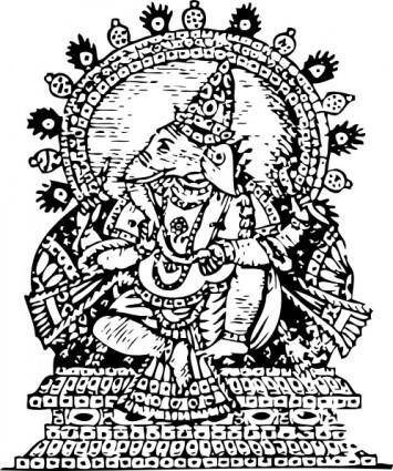 free vector Ganesha God Of Success clip art